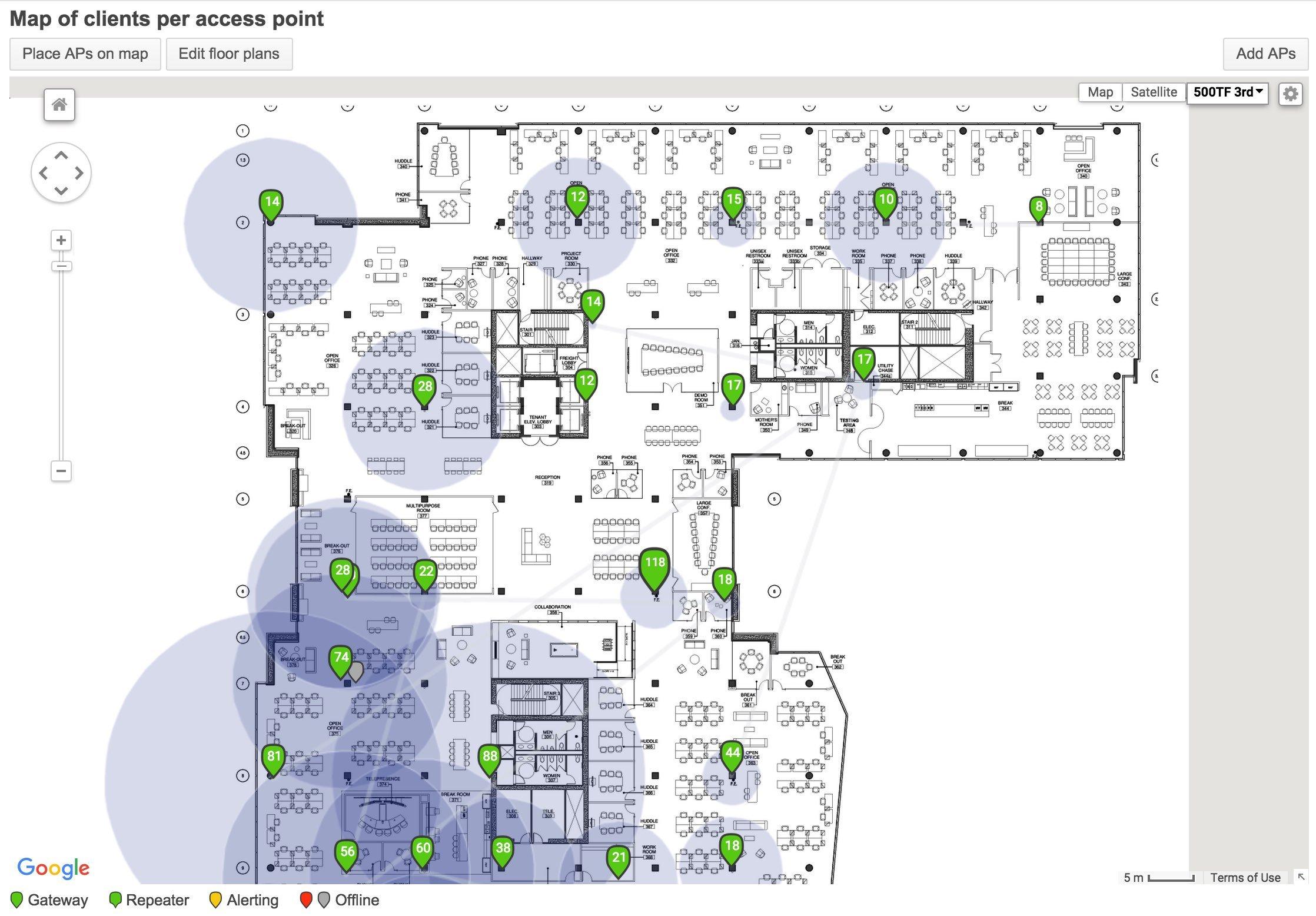 Cisco Meraki MAP of access points